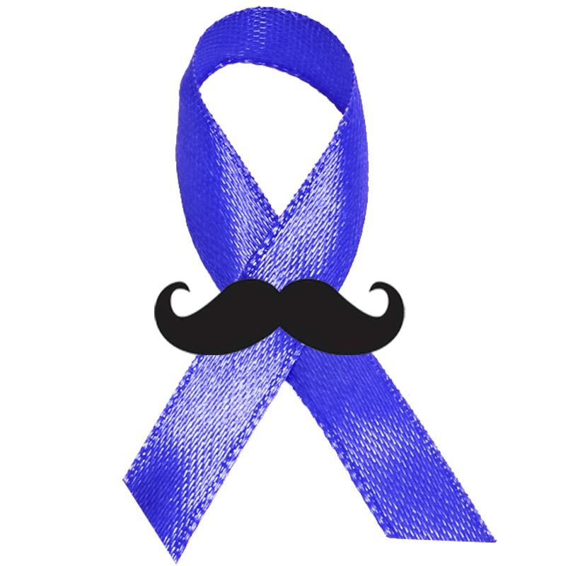 Fita Laço Campanha Novembro Azul com Bigode - Ref.NV006