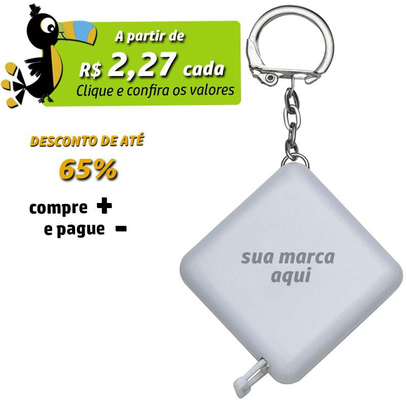 Fita Métrica Chaveiro 1 Metro - Branco - Ref.0015317