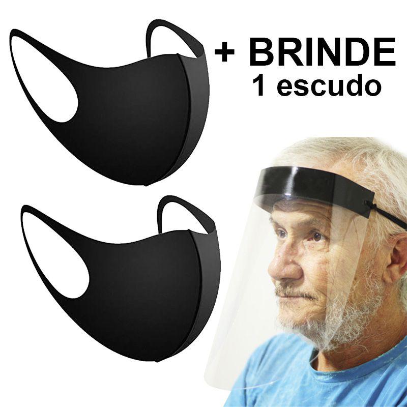 Kit 2 Mascara Neoprene Ninja  + Brinde 1 Mascara Escudo