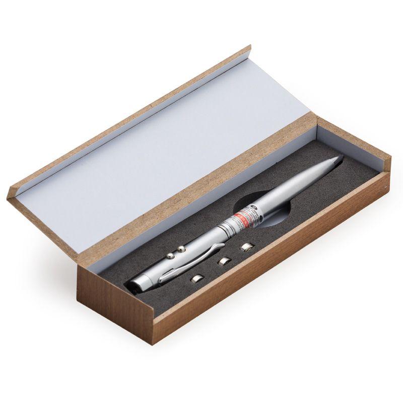 Kit Caneta laser com estojo de madeira - Ref.0015290