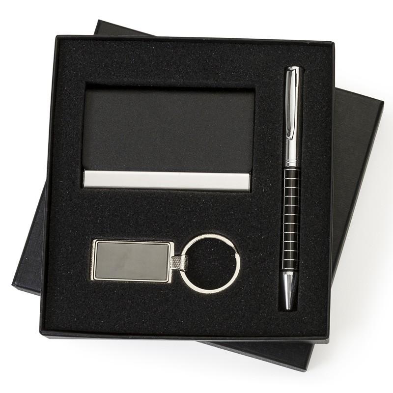 Kit Executivo 3 peças no estojo preto - Ref.0029115