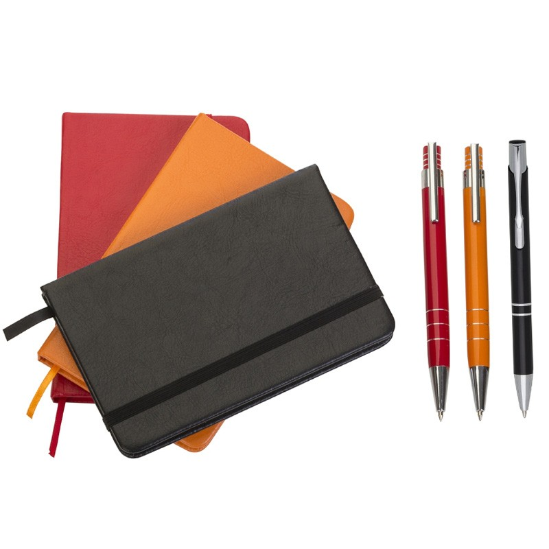 Kit Executivo Caneta e Moleskine Coloridos - Ref.0029100