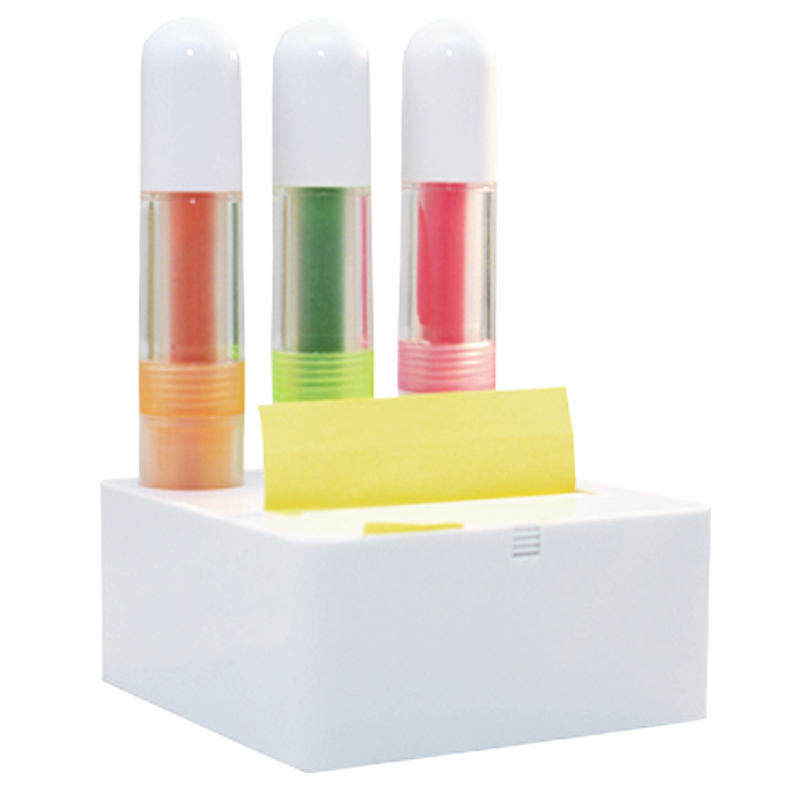 Kit Marca Texto 3 Cores com Post-It - Ref.0029065