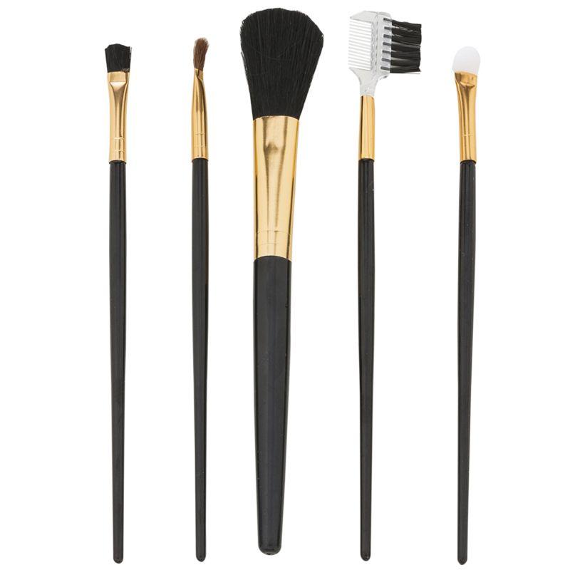Kit pinceis de Maquiagem com 5 peças no estojo - Ref. 0020030
