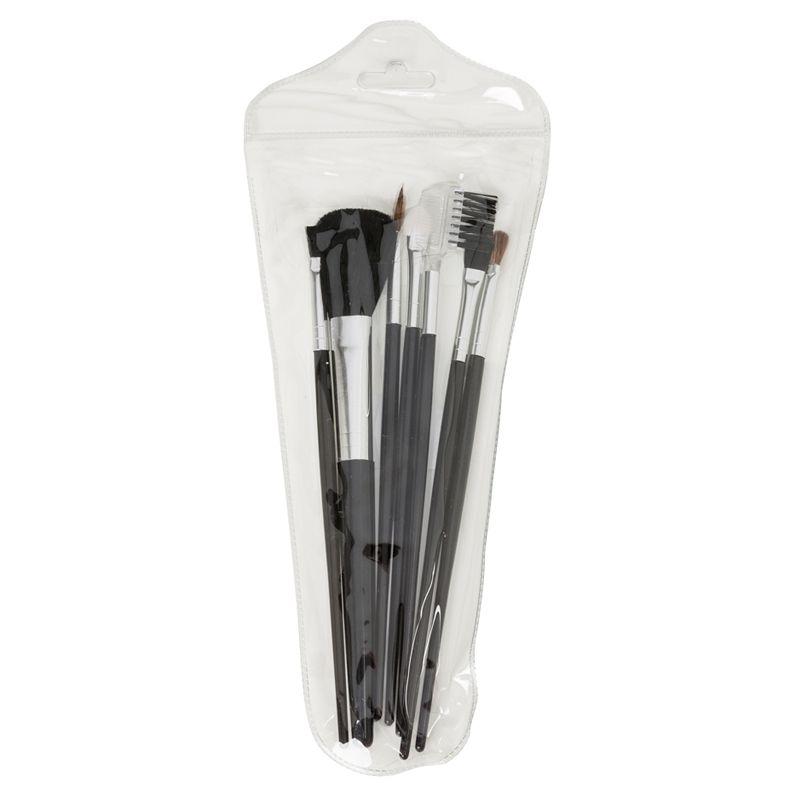 Kit pinceis de Maquiagem com 7 peças no estojo - Ref. 0020025