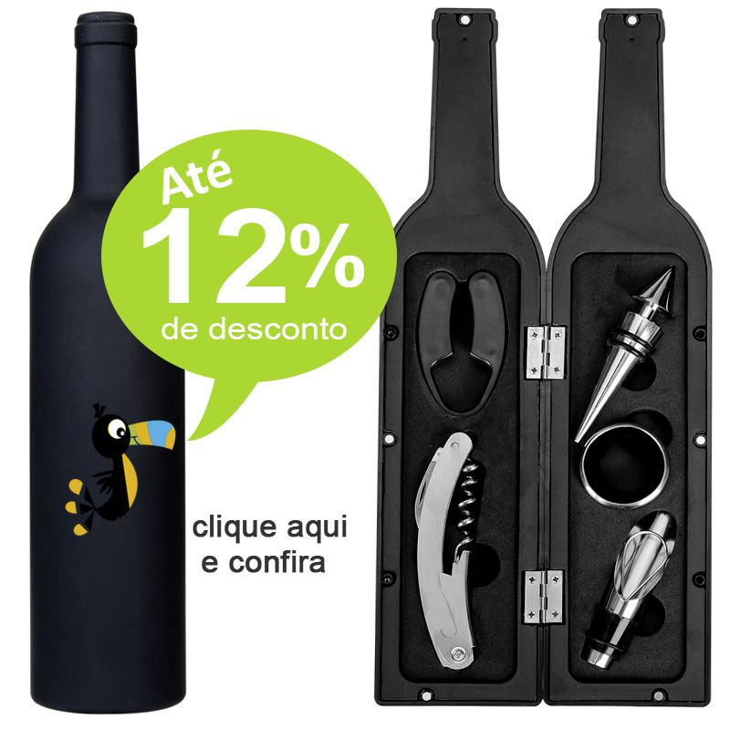 Kit Vinho Garrafa 5 Peças - Ref.0026025
