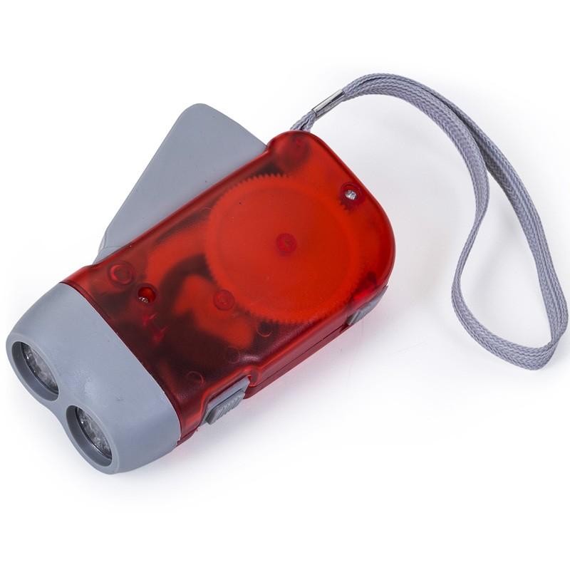 Lanterna Dínamo com 2 leds  Ref.0015310