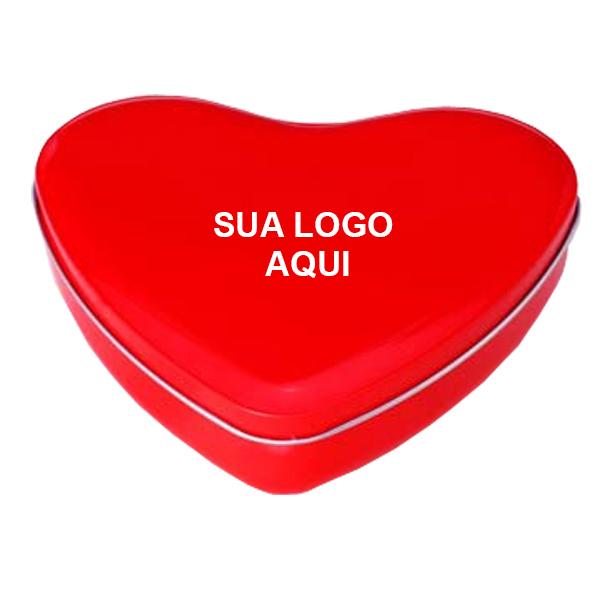LATA CORAÇÃO 13,5 x 15,2 - ALTURA 4cm - Vermelha - REF.0011134 - A PARTIR DE