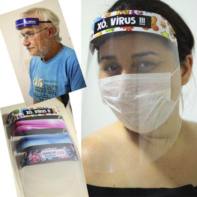Máscara Protetora de Rosto com Elástico