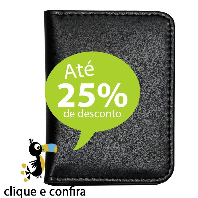 Mini Bloco de Couro Caneta e Calculadora Ref.0019016