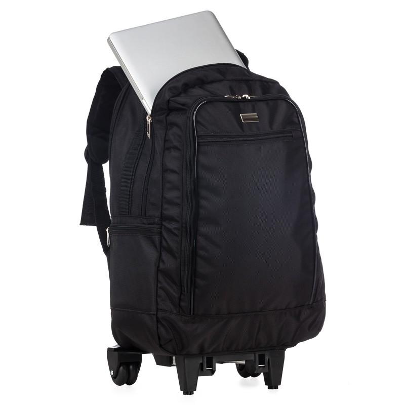 Mochila poliéster com rodas para notebook  - Ref.0020150