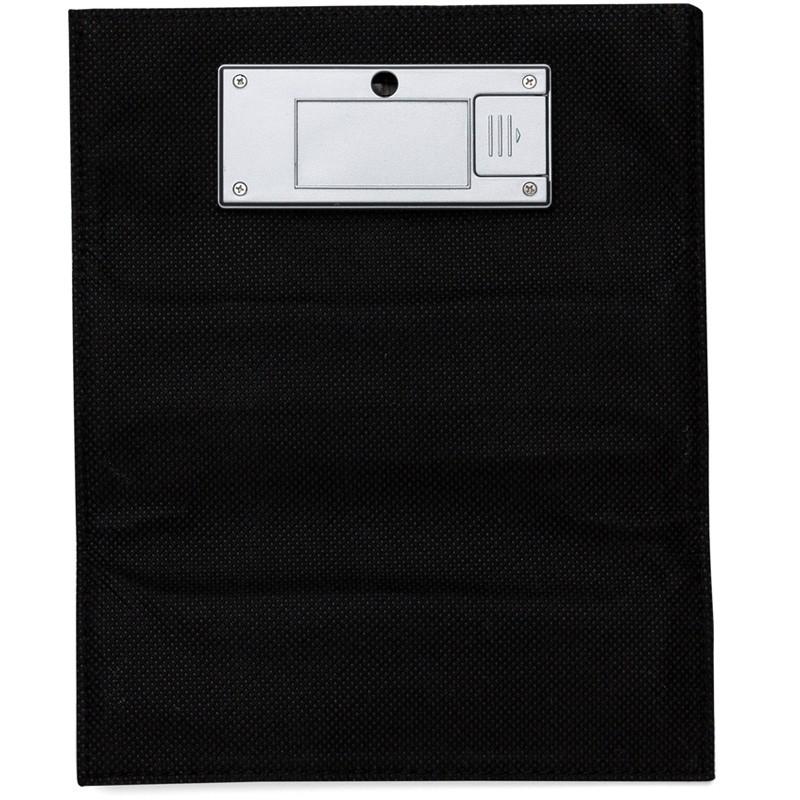 Mouse Pad em couro sintético com calculadora solar de 8 dígitos - Ref.0019225