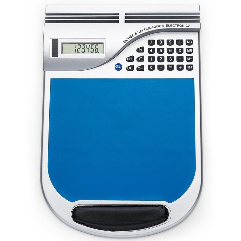Mouse Pad prata emborrachado com calculadora plástica - Ref.0019240