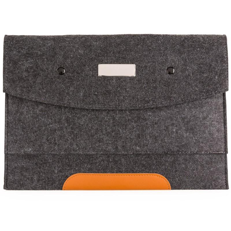 Pasta Envelope com forro e 1 divisória - Tecido Feltro  Ref.0014061
