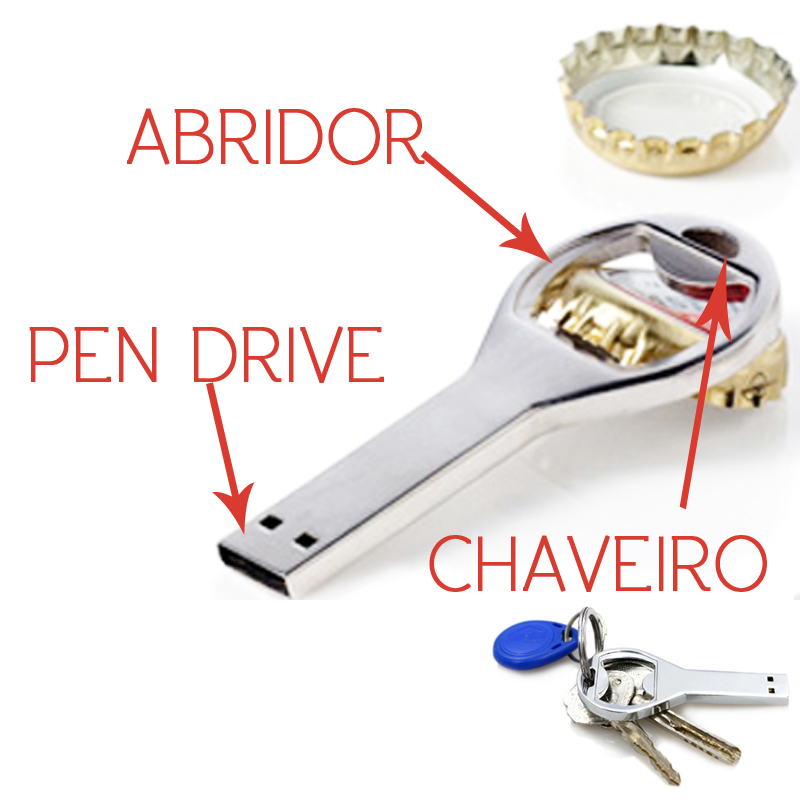 Pen Drive Abridor de Garrafa 4GB - Ref.0032045