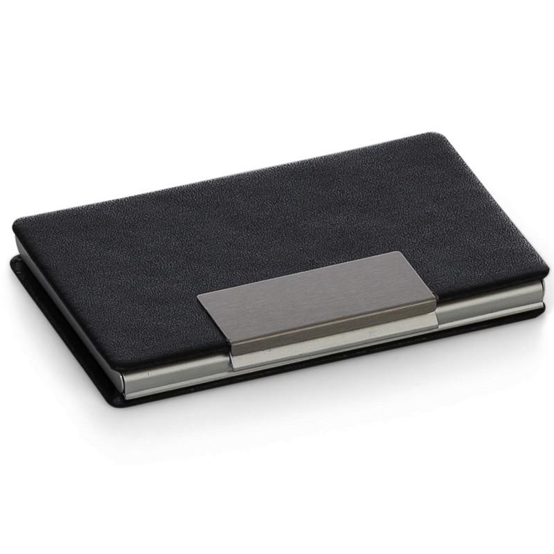 Porta Cartão couro sintético texturizado com placa fosca - Ref.0029245