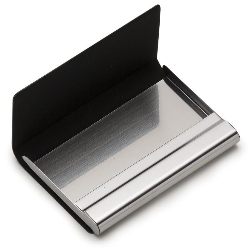 Porta Cartão couro texturizado com detalhes metal - Ref.0029255
