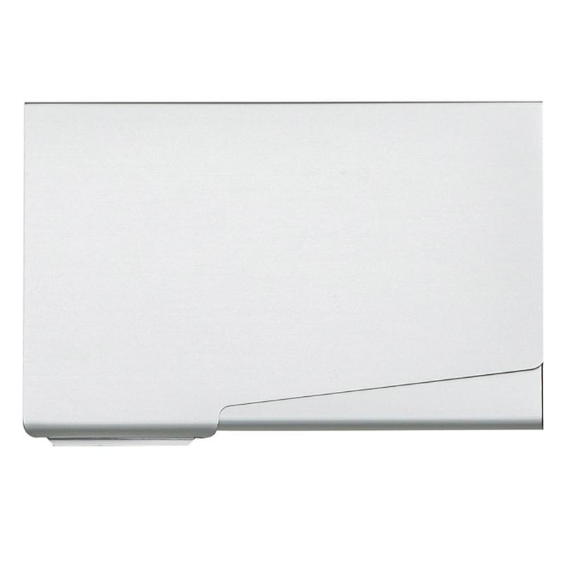 Porta Cartão de alumínio design da abertura em diagonal Ref.0029205