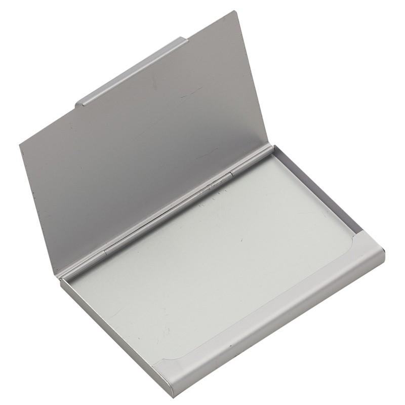 Porta Cartão de alumínio liso fosco Ref.0029235
