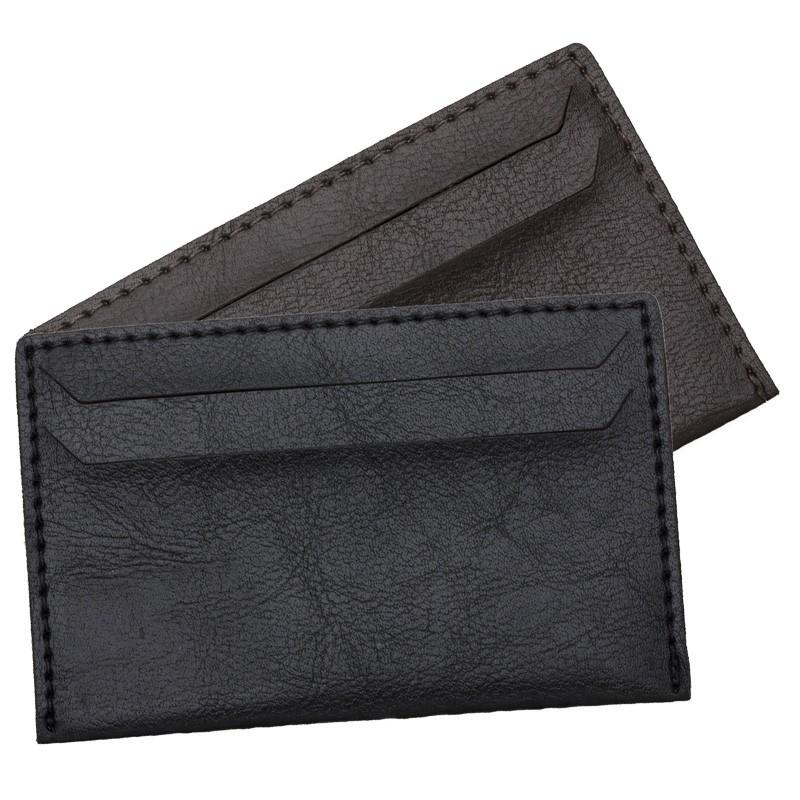 Porta Cartão em couro sintético com duas divisórias - Ref.0029260