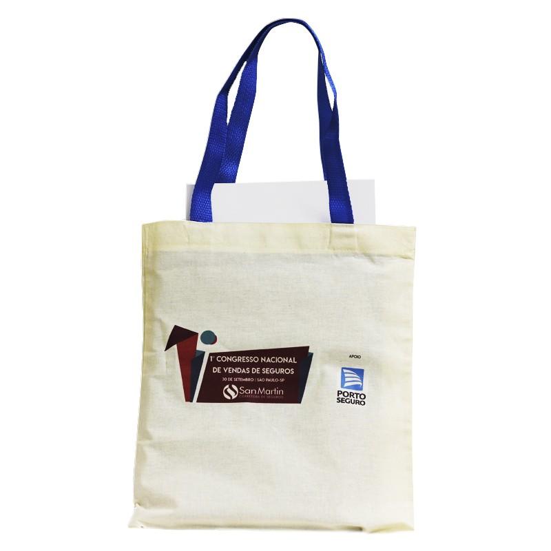 Sacola Ecobag  - Tecido Algodão Crú 30x37cm - REF.0040010