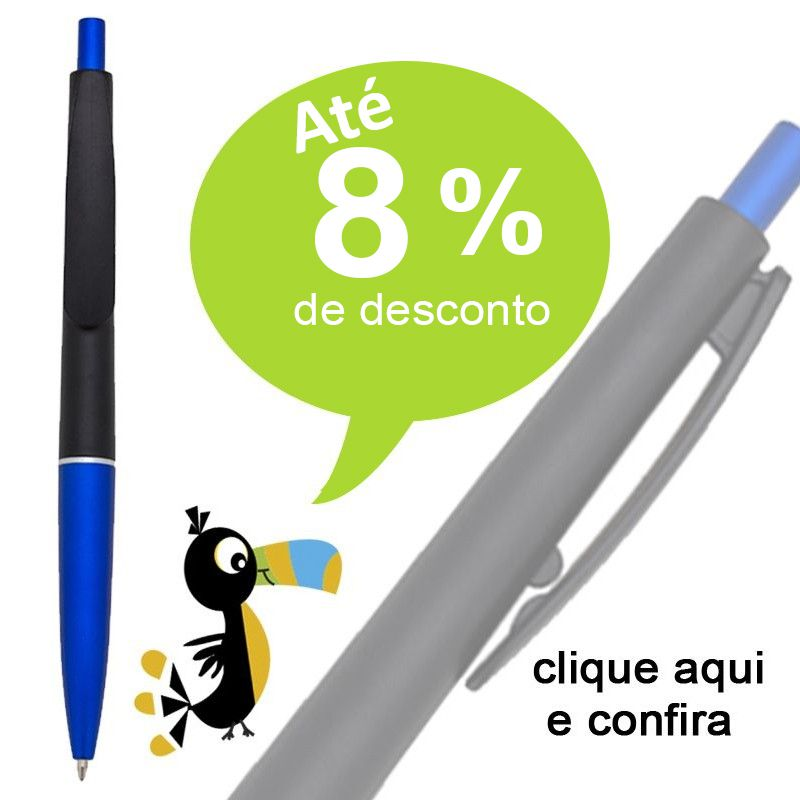 São Paulo - Caneta Plástica - Pintura fosca - Ref.0028110