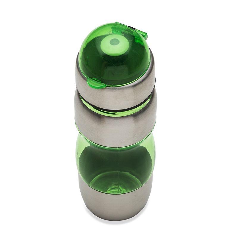 Squeeze de alumínio 450ml com alça plástica e detalhes coloridos Ref.0018155