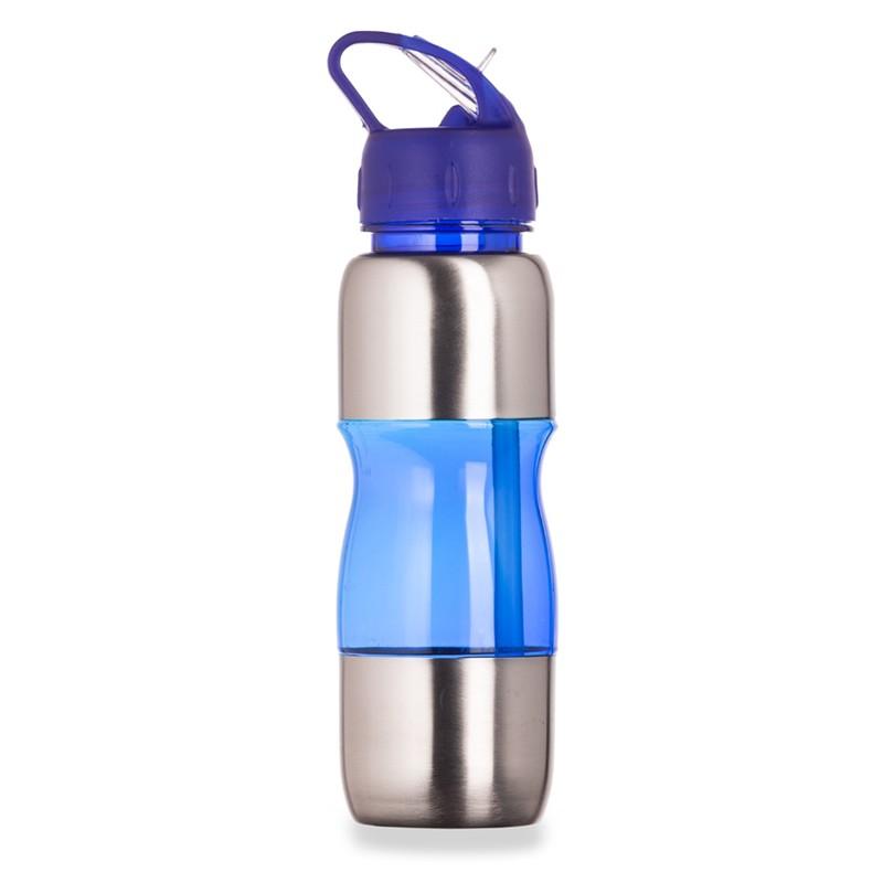 Squeeze de Alumínio 600ml com alça plástica e Bico de canudo Ref.0018115