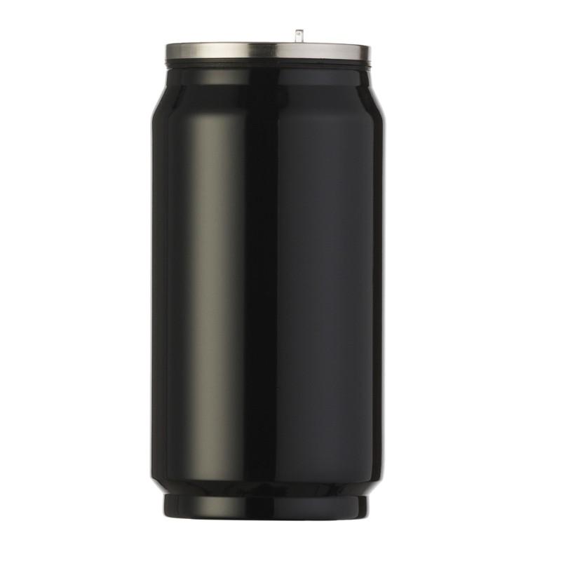 Squeeze de metal brilhante 275ml em formato de latinha  Ref.0018085
