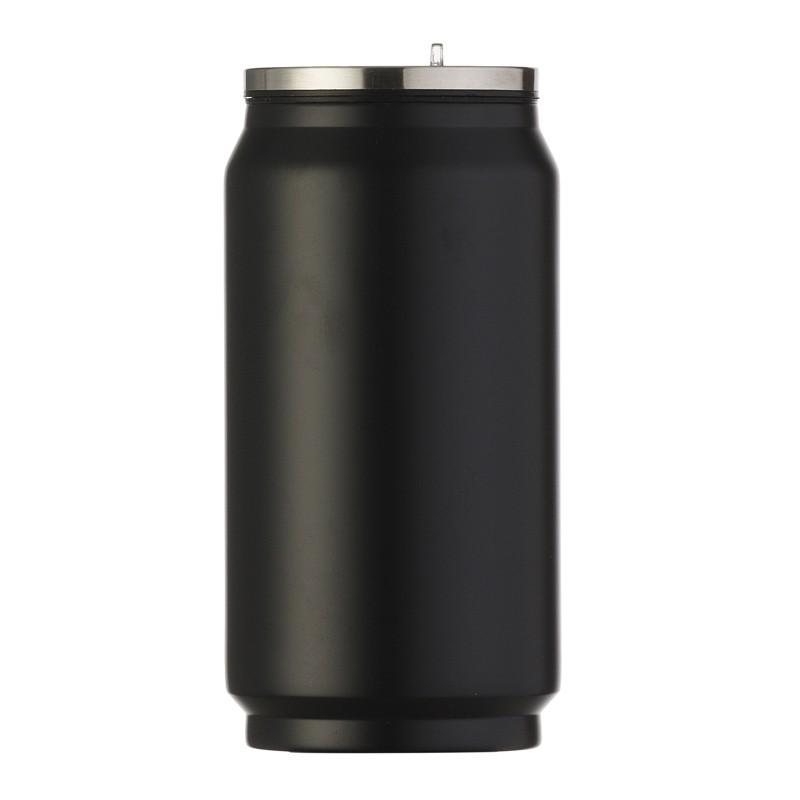 Squeeze de metal fosco 275ml em formato de latinha  Ref.0018086