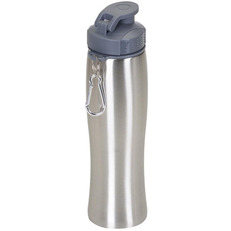 Squeeze Inox 750ml com tampa plástica rosqueável Ref.0018160