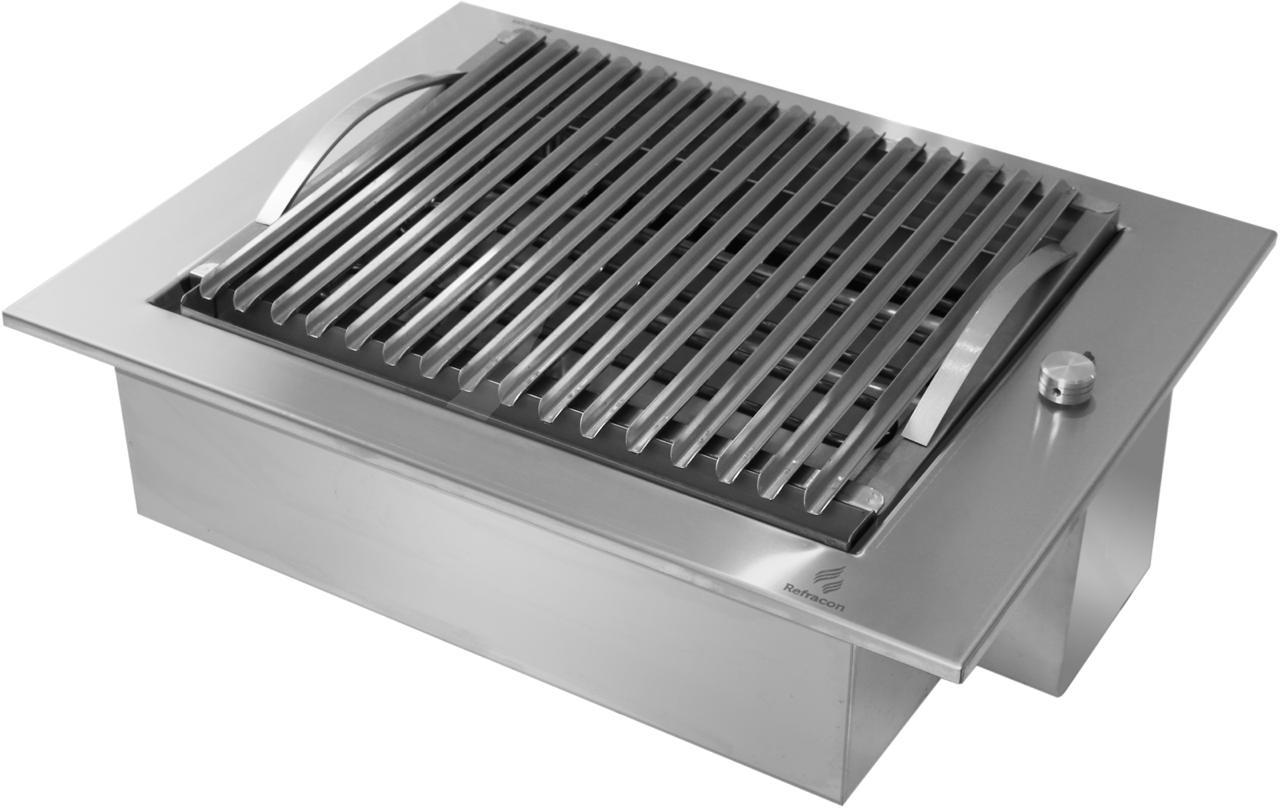 Churrasqueira Elétrica De Embutir Em Inox 304 - 220v 3000w