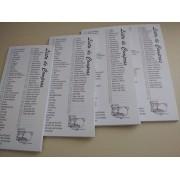 Lista de Compras - 04 Blocos c/50fl cada