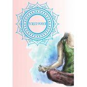Poster Faça Yoga - mulher em postura de Flor de Lótus