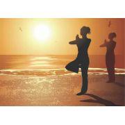 Poster prática de Yoga ao nascer do sol