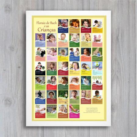 Poster 009 - Crianças e Florais de Bach