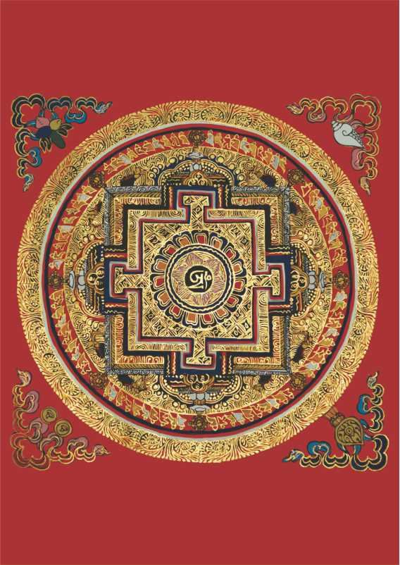 Poster Mandala Tibetana