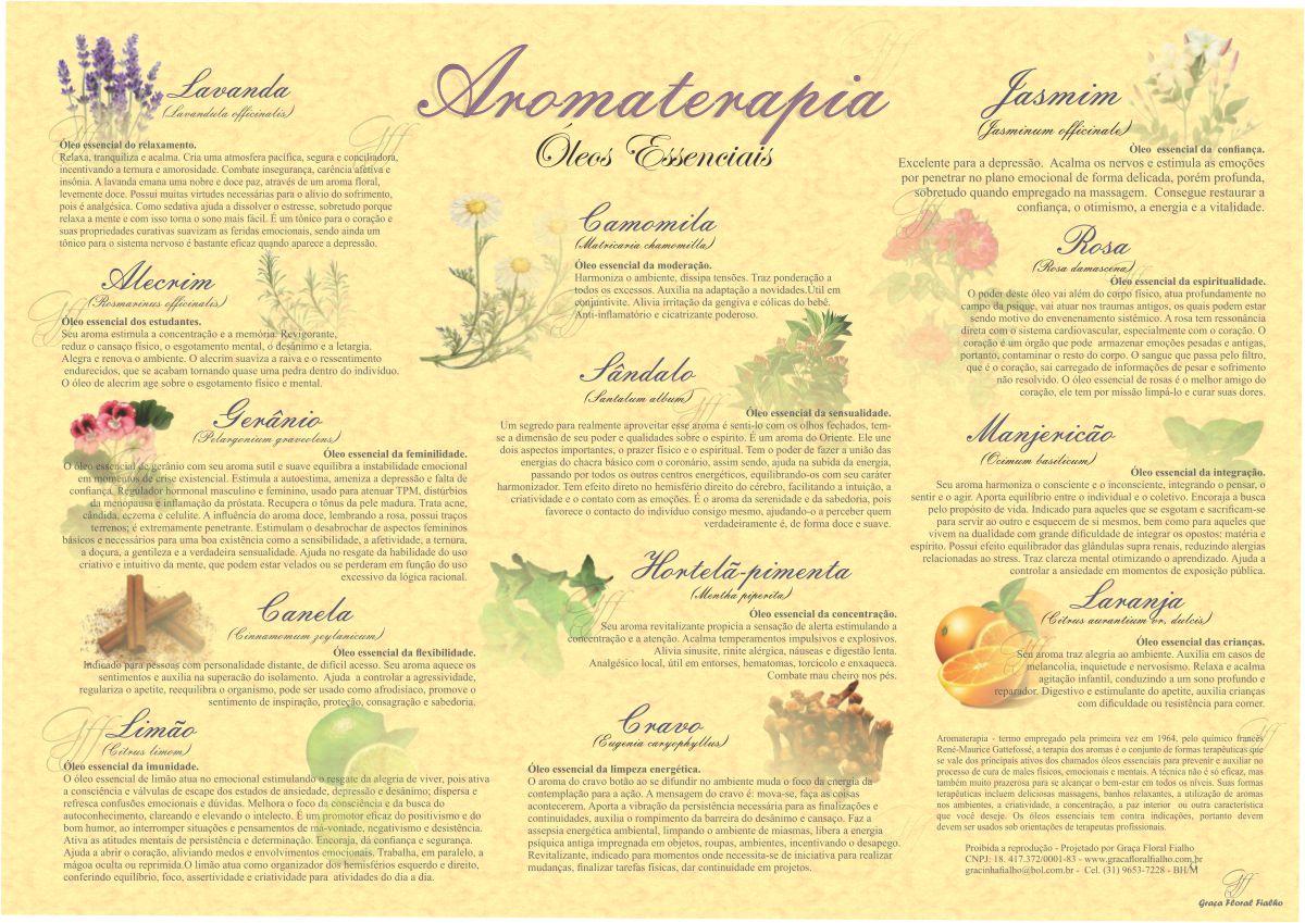 Poster Aromaterapia - Óleos Essenciais