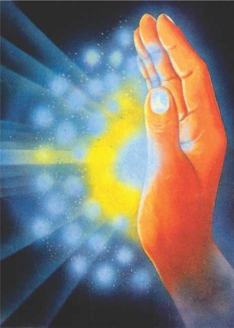 Poster Reiki - mão canalizando energia