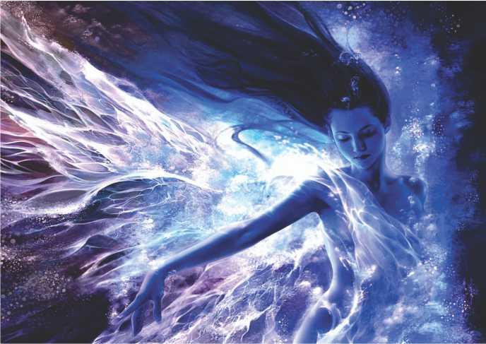 """Poster reprodução da pintura """"Mergulho no Inconsciente"""""""