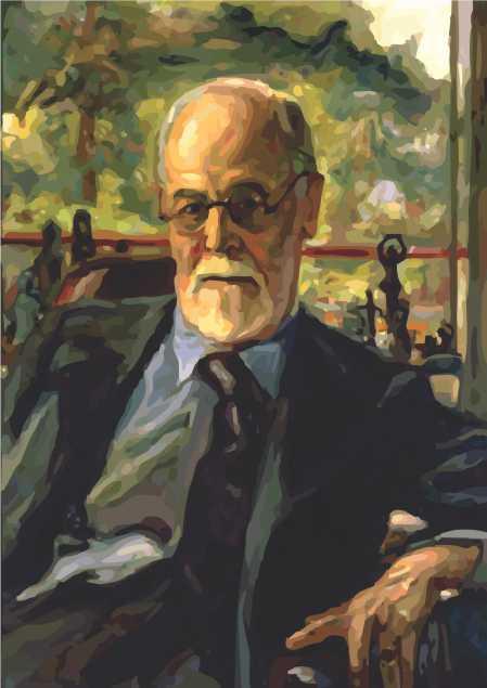 Poster Sigmund Freud - reprodução de pintura abstrata