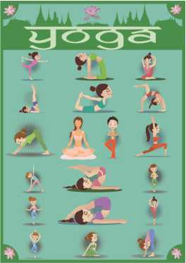 Poster Yoga - ilustração posturas