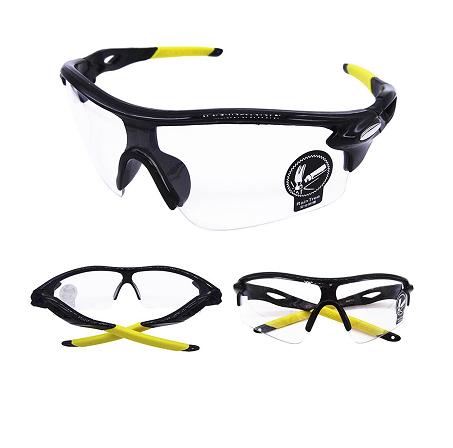 Óculos de sol esportivo Bike Ciclismo Corrida preto prata Uv400 lente  transparente - shopmoby.com.br 87c22ea604