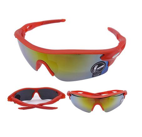Óculos de sol esportivo Bike Ciclismo Corrida vermelho Uv400 -  shopmoby.com.br 834831d2fa