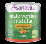 MATE VERDE & MATCHA - CAPIM LIMÃO E LARANJA - 300g - SANAVITA