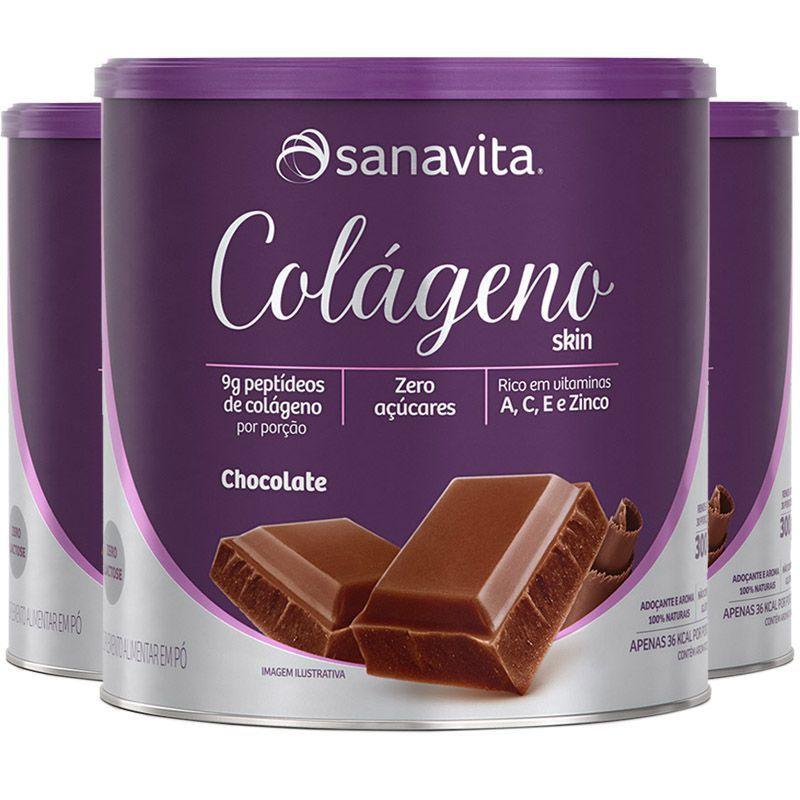 COLÁGENO SABOR CHOCOLATE - 300g -  SANAVITA