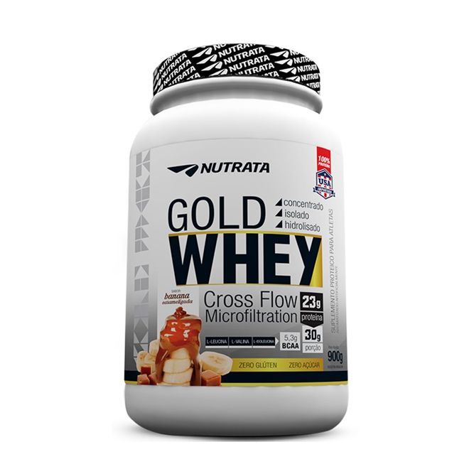 Gold Whey Banana Caramelizada - Nutrata - 900gr