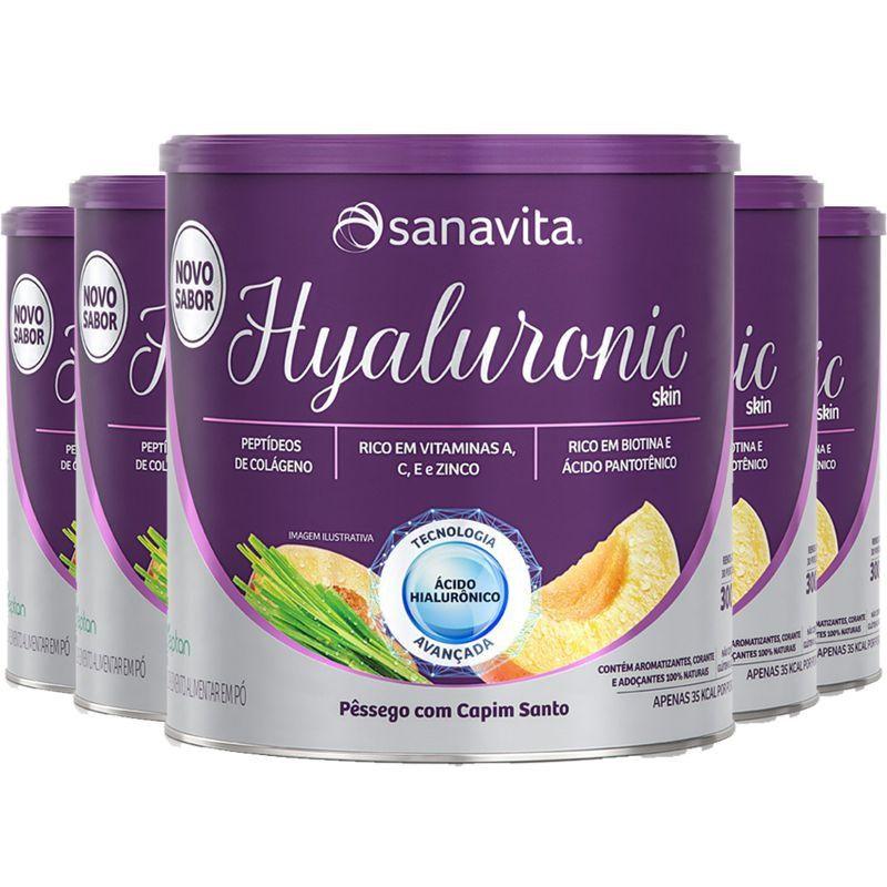 HYALURONIC SKIN PÊSSEGO E CAPIM SANTO  - 300g - SANAVITA