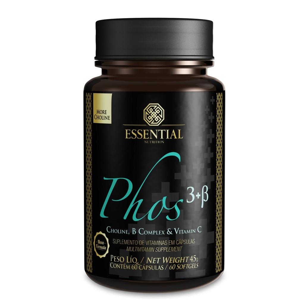 PHOS 3 + B - 60 CÁPSULAS - ESSENTIAL NUTRITION