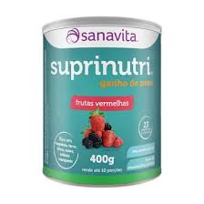 SUPRINUTRI GANHO DE PESO - FRUTAS VERMELHAS - 400 gramas - SANAVITA